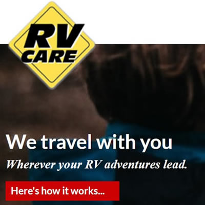 RV Care Network logo in top left corner, with picture of young boy holding an open map.