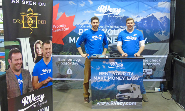 Two representatives from RVezy were among many vendors at the 2018 Calgary RV Expo & Sale.