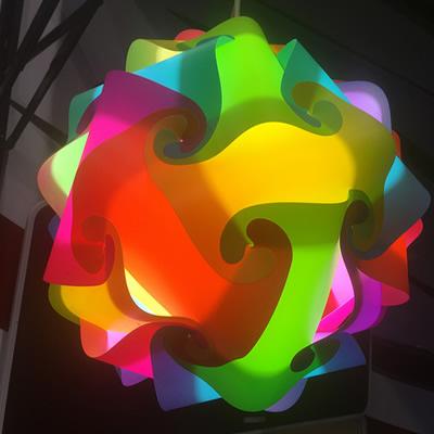 Colourful patio lantern.