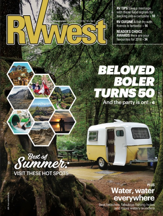 RVwest cover, Summer 2018