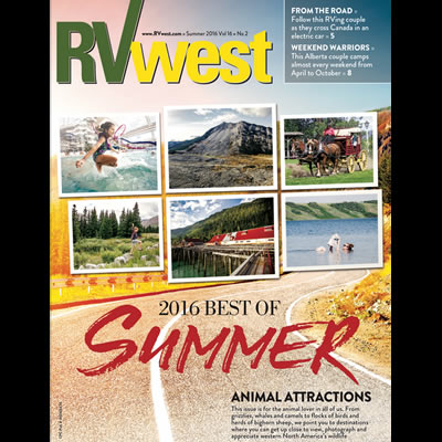 Cover of RVwest magazine.