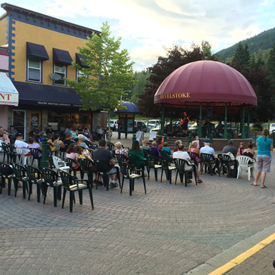 Grizzly Plaza in downtown Revelstoke, B.C., is often used as an entertainment venue.