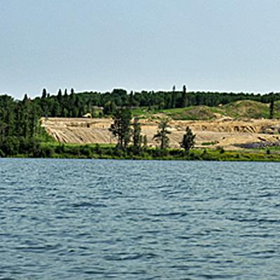 Wabamum Lake, west of Edmonton.