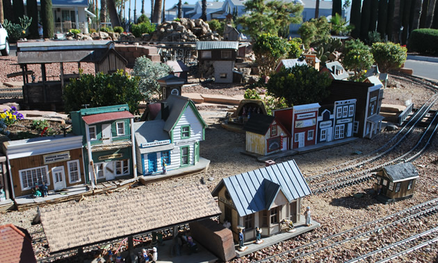 The G-gauge outdoor railroad at Rincon Country West.