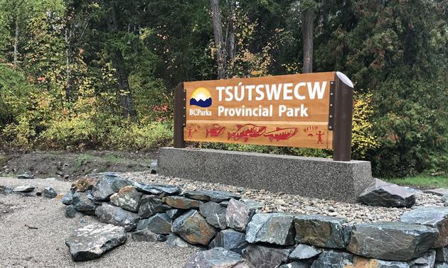 New sign at park - Tsutswecw.