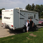 Rowena and Gary Friesen love to go camping in their 2009 Forest River Roo Travel Trailer.