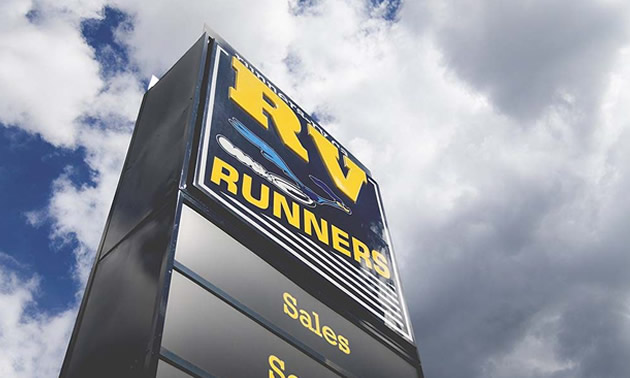 Runners RV sign.