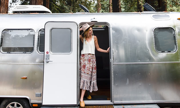 Vintage Airstreams at AutoCamp Russian River in Guerneville.