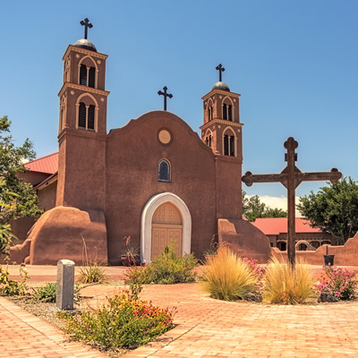 The San Miguel Mission in Socorro, New Mexico, is more than 400 years old