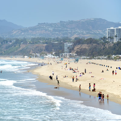 Santa Monica Beach near downtown Los Angeles