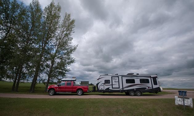 Nokomis, Saskatchewan, has fully serviced sites for $15 a night.