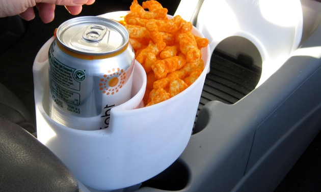 Cup and snack holder