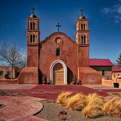 Church in Socorro, New Mexico, beseeches you to take out your camera.
