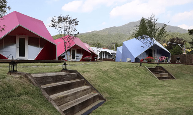 Glaming in small cabins in South Korea