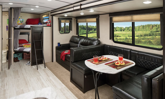 The exterior of the inner cabin of the Northern Spirit Ultra-Lite from RV Care Network Inc.