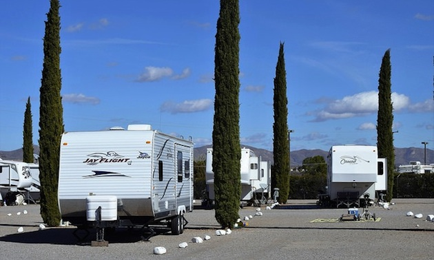 Turquoise Valley RV Park across from golf course.