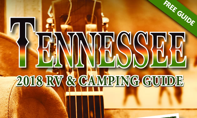 Cover of the 2018 Tennessee RV Camping Guide.