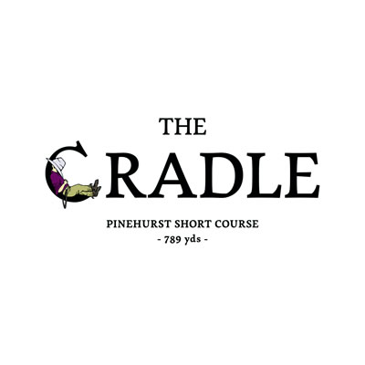 The Cradle logo, featuring the Golf Lad.
