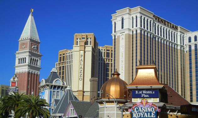 The Las Vegas Strip.