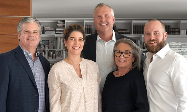 From left to right: Todd Woelfer, Senior Vice President Thor Industries; Carolin Hachenberg, Member of the Supervisory Board EHG; Robert Martin, CEO, Thor Industries;  Gerda Hymer, Christian Hymer, Member of the Supervisory Board EHG.