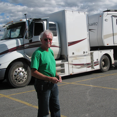 Tom Cragg and his big rig