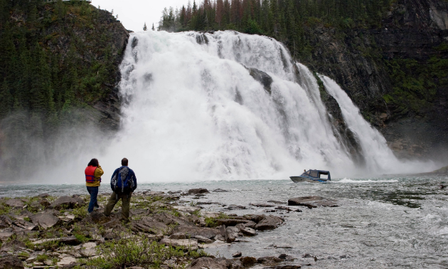 At 60 metres high, Kinuseo Falls is higher than Niagra Falls