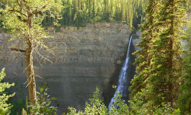 Bergeron Falls, the highest waterfall in northern British Columbia