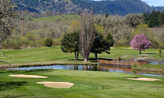 The 11th hole at Umpqua Golf Course in Sutherlin, Oregon.