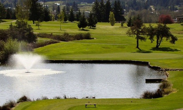The signature hole at Umpqua Golf Course is the 16th.