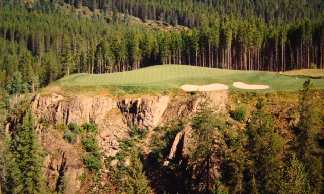 Hole 6 at the Greywolf Golf Course in Invermere