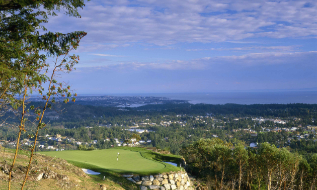 Hole 14 at the Bear Mountain Resort in Victoria