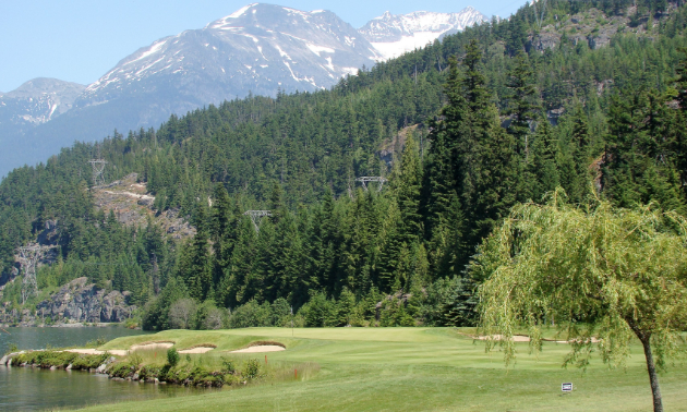 Hole 17 at the Nicklaus North Golf Course in Whistler