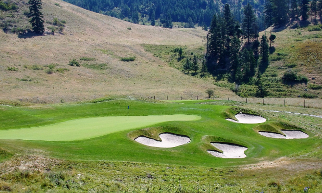 Hole 12 at the Tower Ranch Golf Club in Kelowna