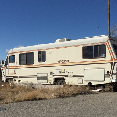 A picture of a Vanguard motorhome.