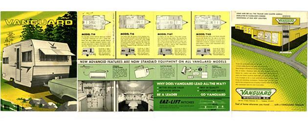 A vintage Vanguard advertising pamphlet.