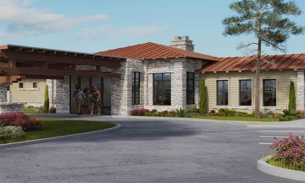 Main building at Verde Ranch RV Resort.