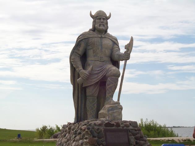 The viking statue in Gimli, M.B.