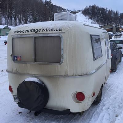 A Boler-style trailer