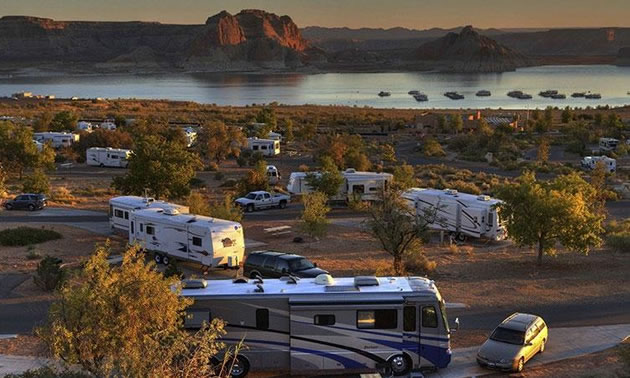 An RV campground in Arizona.