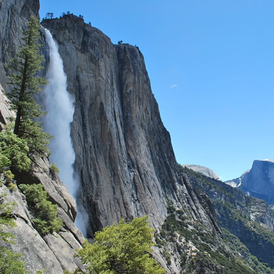 A spectacular view of Yosemite Falls.