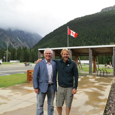 Wayne Stetski (left) at Glacier National Park.