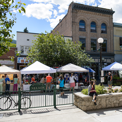 Public art, farmers markets and historic architecture make a summertime visit to Nelson, B.C., a memorable experience.