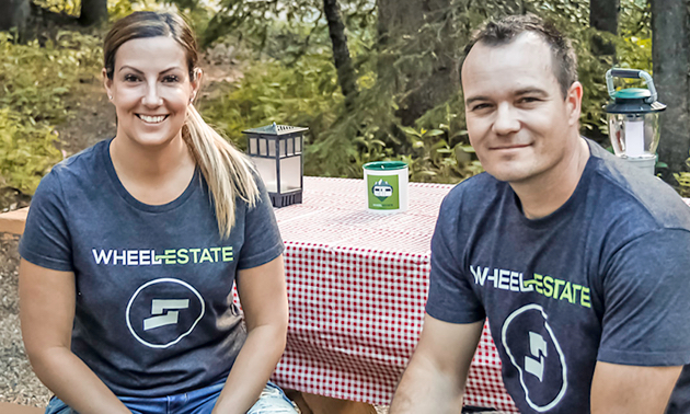 Cherie and Chad Ball are co-founders of Wheel Estate, Canada's first peer-to-peer travel trailer sharing marketplace.