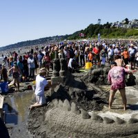 sand castle building during the spirit of the sea festival in white rock bc