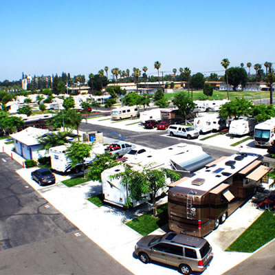 View of the Anaheim RV Park.