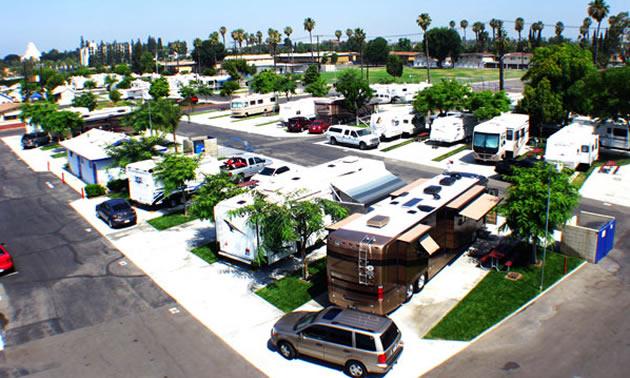 View of the Anaheim RV Park.