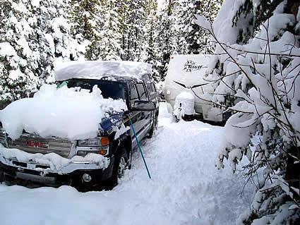 snowy RV