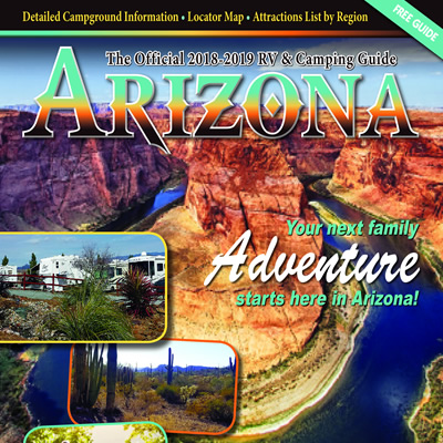 Cover of the Arizona RV and Camping Guide.
