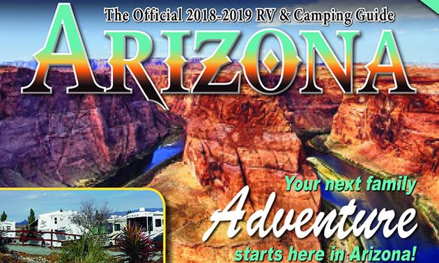 Cover of the Arizona RV Guide.