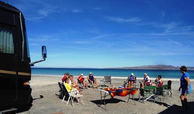 Breakfast at Playa Tecolote.